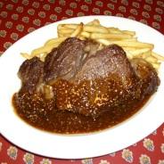 ナチュラルビーフリブロースのステーキ